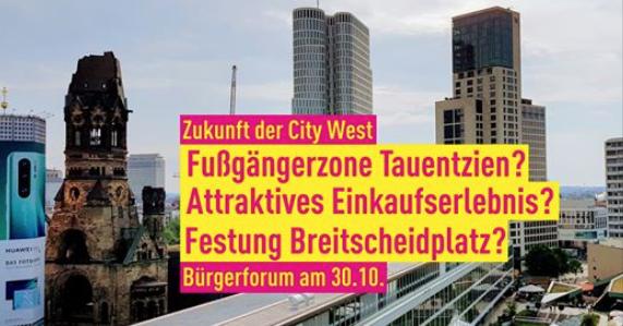 Bürgerforum zur Zukunft der City West